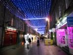 Rose street by night.