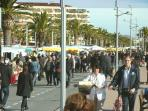 Sunday Boulevard Market, from Frejus port to St Raphael Sailing club.