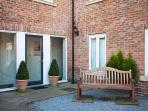 The courtyard at St Maurice's Court, Holiday Rental, York