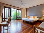 One of the villa's well appointed guest room