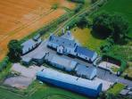 Aerial picture of farm. No other rental properties on site.