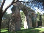 Roman aqueduct remains, just a short distance from old town Frejus.