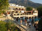 Use all the facilities at the nearby Orka Hotel