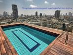 the pool and the surrounding view