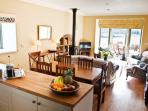 Open plan kitchen, dining room sitting room
