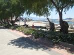 a small part of the beach