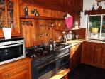 Well equipped kitchen with big range cooker