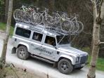 Transportation to and from your guided rides at MudTrek Mountain Bike Breaks