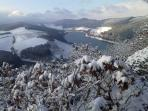 A winter view on the St Muffert hill, 10 minutes walking from the chalet