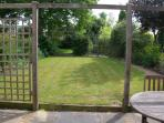 The rear garden with patio area