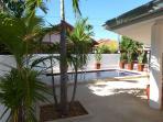 shaded sun bathing area