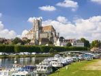 Auxerre -the beautiful medieval city which is the capital of the Yonne department