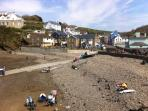 Little Haven beach and village, 2 minute walk from the flat