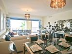Luxury fully furnished lounge and dining area