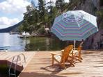 Lakefront Okanagan Vacation Home Dock & Boat lift