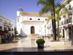 Local Church Square, in easy walking distance from property.