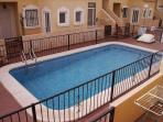 Beautiful clean communal pool and complex area