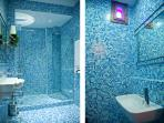 Bathroom and separate toilet- Blue P & R Suite 1890