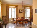 Dining table can be extended to accommodate ten people