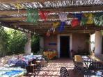 Breakfast terrace at La dolce vita Lipari agriturismo, B&B
