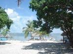 Private white sandy beach
