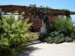 Breakfast terrace view from the courtyard of La Dolce Vita lipari