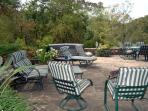 Patio with Hot tub Fire pit  Tables Seating for 16