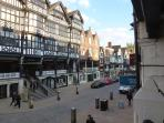 The Roman walled city of Chester, voted 5th prettiest city in Europe