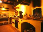 main kitchen , there you can have cookery classes: all toghether make hand made pasta ....or pizza !