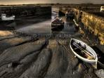 Cobles in Beadnell Harbour