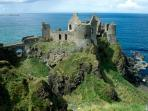 Take a trip to Dunluce castle only 10mins away