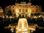 Monte Carlo Casino at night - 300 meters away from apartment