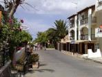 Our apartments on the main road to the beach, beach is 70 meters way