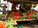 Our daily fresh food market at the doorstep