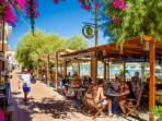 Have a cold drink or a coffee and watch the world go by - Cafe Olympio is right on the beach
