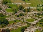 Monyash village showing Avonlea's location with The Bulls Head pub on the village green