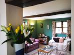 Lounge in rural holiday cottage, Nr Llandovery