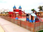 One of many children's play areas