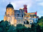 The palaces of Sintra are an easy day out from Peniche.