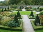 Aberglasney garden - one of the finest in Wales
