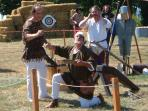 Medieval festival at Crozant late July/early August