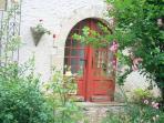 The door from the garden