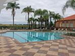 The Main Heated Pool at the Clubhouse.  All facilities are available free of charge to our guests