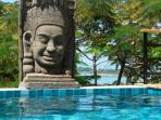 buddha by the pool