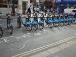 Bikes for hire - 1 minute walk away