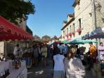 French rural market in surrounding area