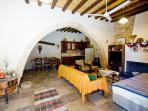 Traditional stone arch - lovely spacious room