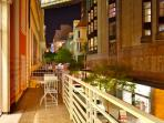 Possibility to have a romantic diner on the balcony