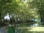 Walk or cycle along the Canal du Midi, just half an hour away