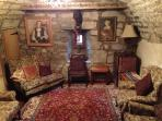 A snug sitting room on the ground floor of the manor House
